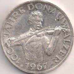 Motivseite: Münze-Europa-Mitteleuropa-Österreich-Schilling-50.00-1967-Donauwalzer Austria, Diy And Crafts, Coins, Personalized Items, Rooms