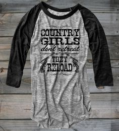 Juniors Country Girl ® Reload Burnout Baseball Tee