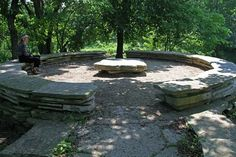 A couple of these spaces beneath an oak tree for the backyard.