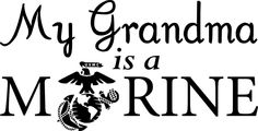 """Amazon.com - My Grandma is a Marine (United States Marine Corps (USMC)) Vinyl Decal (White, W 6"""" H 3.1"""") - Purchase this product along with all of our other spectacular decals through one of the following links:   https://www.etsy.com/shop/MiaBellaDesignsWI  http://www.amazon.com/s?marketplaceID=ATVPDKIKX0DER&me=A2MSEOIVL689S1&merchant=A2MSEOIVL689S1&redirect=true"""