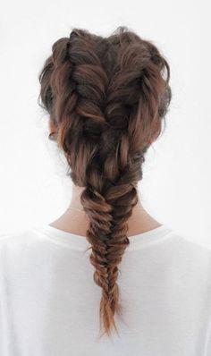 Double fishtail braid...