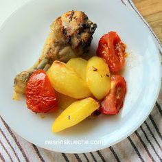 NESRiN`S KÜCHE: Fırında Tavuk / Im Ofen gegrillte Hähnchenkeulen mit Kartoffeln und Tomaten
