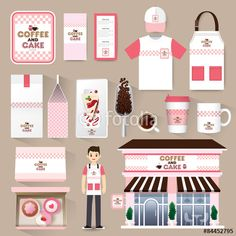 Vector: Vector restaurant cafe set. Layout set of corporate identity mock up template.