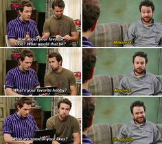 Charlie its always sunny hookup profile