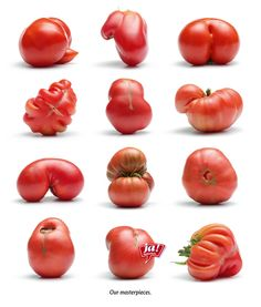 in the spirit of eco-friendly, organic living, i found these delightfully 'al naturale' design images on i believe in advertising…enjoy! Fruit And Veg, Fruits And Veggies, Organic Vegetables, Funny Vegetables, Benefits Of Organic Food, Healthy Food Options, Organic Living, Organic Art, Food Waste