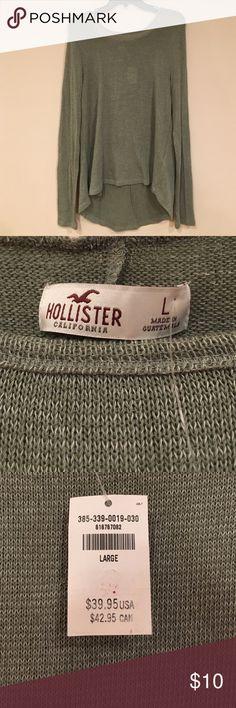 Green Hollister long sleeve hoodie Cute green hoodie thin material perfect for fall weather 🍂 Hollister Tops Sweatshirts & Hoodies