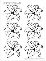 flower set 2 lilies - Images Of Flowers To Color 2