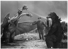 Let's Get Whisked Away by Kitschy Kaiju Japanese Monsters Sci Fi Horror, Horror Films, Horror Art, Original Godzilla, Japanese Monster, Japanese Film, King Kong, Stop Motion, Live Action