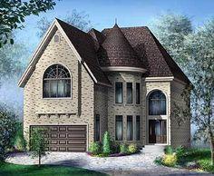 Victorian House Plans, European House Plans, Gothic House, Victorian Homes, Victorian Gothic, Dream House Plans, House Floor Plans, Dream Home Design, House Design