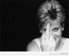 Wish we had seen more of this from Princess Diana and maybe she would have been around to see her grandchild. The most elegant middle finger.