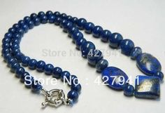Limited Free shipping Chains Necklaces Plant Women Chain Pendant Necklace Real Natural Egyptian Lapis Lazuli Necklace 18