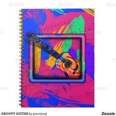 #GROOVY GUITAR NOTEBOOKS by #Gravityx9 #Zazzle #Guitar -