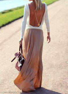 my two favorite things... long skirts and open backs