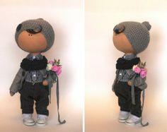 Muñeca Tilda muñeca invierno muñeca hecha a por AnnKirillartPlace