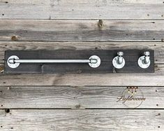 Your place to buy and sell all things handmade Rustic Industrial, Modern Rustic, Galvanized Pipe, Household Cleaners, Towel Holder, Wood Pieces, Office Gifts, Rustic Style, Hanger