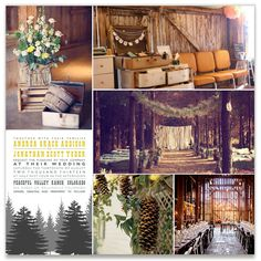 A little more of a forest wedding but I love those apple barrels and old suitcases