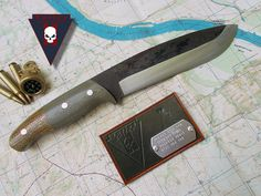 Mississippi river with half height grind and reverse bolsters. Turleyknives.com