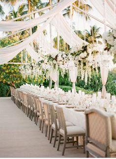 Outdoor Wedding Ceremonies 41 Inspiring Backyard Wedding Ideas for an Inexpensive Wedding Wedding Reception Seating Arrangement, Outdoor Wedding Reception, Tent Wedding, Wedding Seating, Reception Table, Rustic Wedding, Outdoor Weddings, Reception Ideas, Wedding Venues