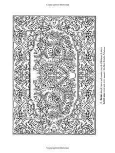 Arabic Floral Patterns Coloring Book Dover Design