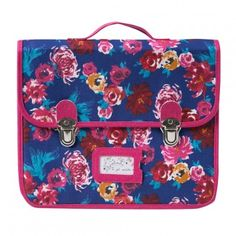Cartable Maxi fleurs Fuchsia Catimini, TU,  Mini Kid Fille