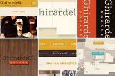 Ghirardelli Square // brand refresh and website redesign // design by CDA // ghirardellisq.com