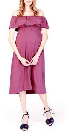 Ingrid & Isabel(R) Off the Shoulder Maternity Midi Dress #ad