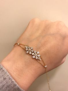 Wow, diamond flower bracelet