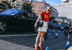 Annabel Rosendahl in Isabel Marant skirt, Loewe bag, Céline shoes Phil Oh's Best Street Style Pics From New York Fashion Week sep 16