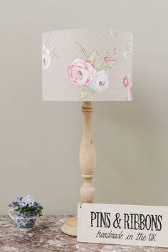 English Rose Taupe Lampshade