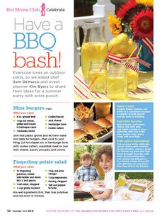 Press: Styled Bbq For Mom Mag