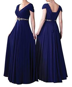 Mother of the Bride Dresses - WeiYin Womens Cap Sleeve Vneck Ruched Empire Line Mother of the Bride Dresses -- See this great product.
