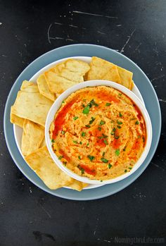 So in lue of unhealthy fat and calories, enters buffalo-y heaven… Buffalo Hummus. Hello beautiful!