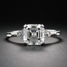 1dcd63f37daeb 11 Best Asher cut engagement rings images in 2017 | Jewelry, Diamond ...