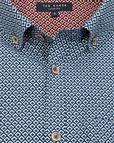 JENSON - Printed shirt - Blue | Men's | Ted Baker
