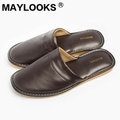 spring and autumn on sale at reasonable prices, buy Men's Slippers Spring And Autumn Pu Leather Home Indoor Non - Slip Thermal Slippers 2018 New Hot Maylooks from mobile site on Aliexpress Now! Mens Moccasin Slippers, Men's Slippers, Leather Slippers For Men, Man Of The House, Pu Leather, Uggs, Indoor, Man Shop, Autumn