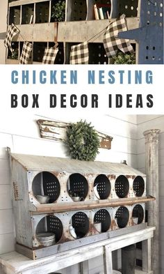 13 Ways Chicken Nesting Boxes Can Make A Farmhouse Fabulous - Chicken nesting coop boxes are the latest farmhouses home trend. The farmhouse craze blows our mind - Rustic Farmhouse Furniture, Farmhouse Homes, Farmhouse Style, Cool Diy, Easy Diy, Cheap Home Decor, Diy Home Decor, Types Of Furniture, Furniture Ideas