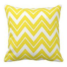 Yellow Chevron Throw Pillows | Pretty Throw Pillows |  #yellow #chevron #prettythrowpillows #home #pillows #decor