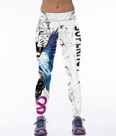 3D Sexy Hot Sale Animal Printed Women Bodybuilding Elasticity Stretch Fitness Leggings Girls Workout Stripped Leggings Women