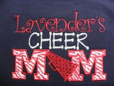 CHEER MOM sis aunt family shirt by JustUsGirlzMonogram on Etsy, $20.00 This has sold, but there is one more that is exactly like this and u can get it for anyone in your family..