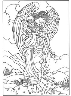 coloring pages angel a angel coloring pages and misc angel sprinkling stars recolor app free printable coloring pages for adults angels Angel Coloring Pages, Free Adult Coloring Pages, Coloring Pages To Print, Free Printable Coloring Pages, Colouring Pages, Coloring Books, Coloring Sheets, Fairy Coloring, Christmas Coloring Pages