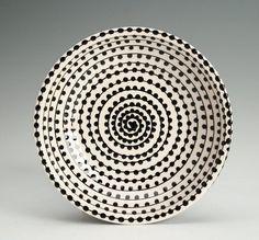 Vertigo Spiral and Dots Bowl Small Hand by owlcreekceramics, $15.00