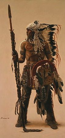 "Native American art of James Bama - ""Sioux Subchief"" Más Native American Warrior, Native American Tribes, Native American History, American Indians, American Symbols, Native American Paintings, Native American Pictures, Indian Paintings, Abstract Paintings"