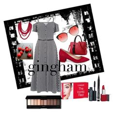 """""""Gingham Updated"""" by vickiitz ❤ liked on Polyvore featuring Clinique, Warehouse, Zimmermann, BaubleBar and Steve Madden"""
