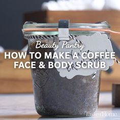 Easy DIY Coffee Face & Body Scrub Is coffee good for your skin? Learn how to make an invigorating DIY coffee scrub from simple pantry ingredients. DIY Soothing Rose Aloe VeHow I Use Coffee To Get ADo a rose peeling yourself Diy Body Scrub, Diy Scrub, Body Scrub Recipe, Diy Coffee Face Scrub, Body Scrub Homemade, Exfoliating Body Scrub Diy, Homemade Coffee Scrub, Natural Body Scrub, Coffee Face Mask