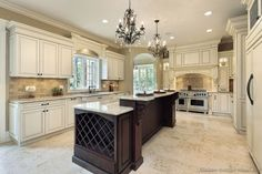 Traditional Two-Tone Kitchen Cabinets #165 (Kitchen-Design-Ideas.org)