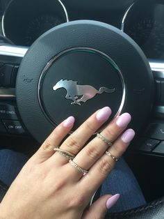 Cute pink oval nails
