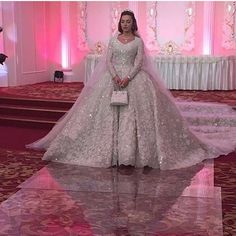 >> Click to Buy << Luxury Cathedral/Royal Muslim Wedding Dresses Saudi Arabic Bridal Gowns Appliques Long Sleeves Wedding Gowns robe de mariage #Affiliate