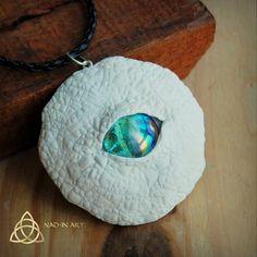 Crystal. Dragon eye pendant.Polymer clay.Mystical.White dragon.Fantasy.Magical
