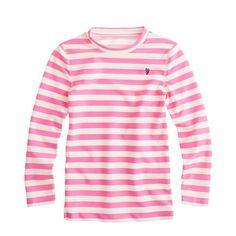 Girls' stripe rash-guard top {jcrew}