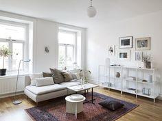 Ikea 'Söderhamn' sofa & 'Vittsjö' shelves